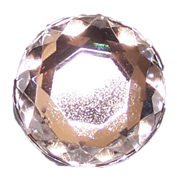 25mm Flat Back Rhinestones - Crystal Clear - 10 pack