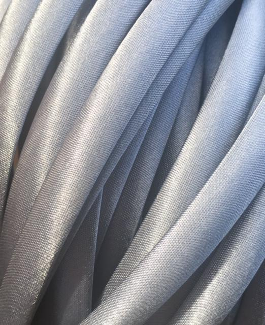 7mm Silver Satin Covered Headband - 1 piece