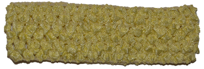1.5 inch Crochet Headband - Yellow- 1 piece
