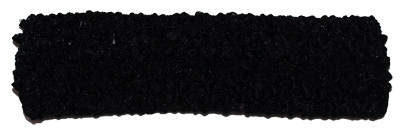 1.5 inch Crochet Headband - Black - 1 piece