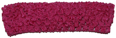 1.5 inch Crochet Headband - Dark Hot Pink- 1 piece
