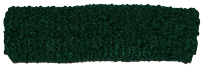 1.5 inch Crochet Headband - Forest/Emerald Green- 1 piece