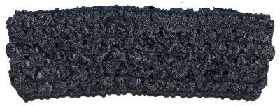 1.5 inch Crochet Headband - Dark Grey- 1 piece