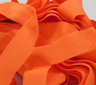 "5/8"" Halloween Orange Fold Over Elastic (FOE) - 1 yard"