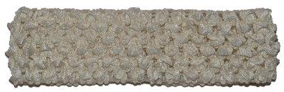 1.5 inch Crochet Headband - Ivory - 1 piece
