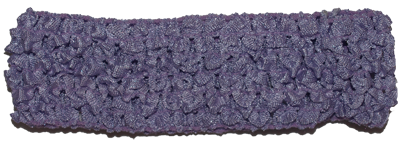1.5 inch Crochet Headband - Lavender purple - 1 piece