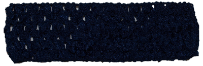 Navy Blue 1.5 inch Crochet Headband - 12 pack