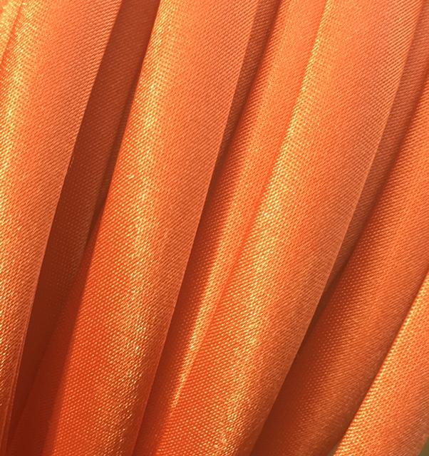 9mm Orange Satin Covered Headband - 10 piece