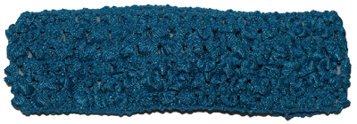 1.5 inch Crochet Headband - Turquoise Blue - 1 piece