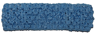 Sky Blue 1.5 inch Crochet Headband - 12 pack